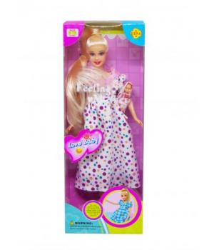 """Детская Кукла """"Defa. Беременная"""" (платье в горошок) 6001"""