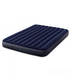 Матрас надувной велюровый, 152х203х25 см, Intex