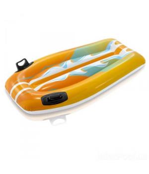 Детский надувной матрас для пляжа, желтый, 112 см
