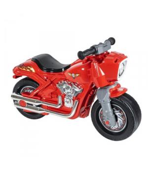 Детский мотоцикл толокар красный, с сигналом, Орион