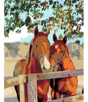"Картина по номерам ""Пара лошадей"" ★★☆ N00013383 35х45 см"
