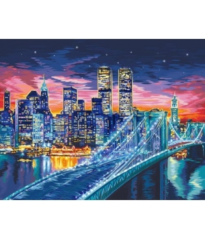 "Картина по номерам ""Ночной Манхэттен"" KpNe-01-01,02,03,04,...10"