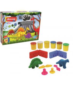 """Детский набор для лепки из пластилина """"Динозаврики"""" E ERN-568"""