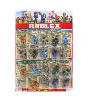 """Набор героев """"Roblox"""" на листе, 20 штук"""