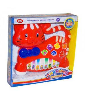 Пианино детская игрушка, Котик, красный, Play Smart