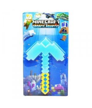 """Кирка """"Minecraft"""", 34 см, голубая 9011-2"""