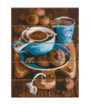 "Картина по номерам на дереве ""Вкус кофе"" ASW026 40х30 см"