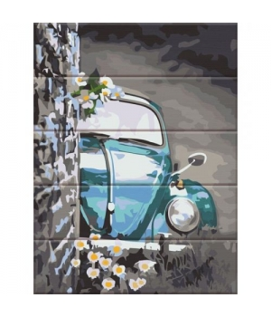 """Картина по номерам на дереве """"Ретро авто"""" ASW124 40х30 см"""