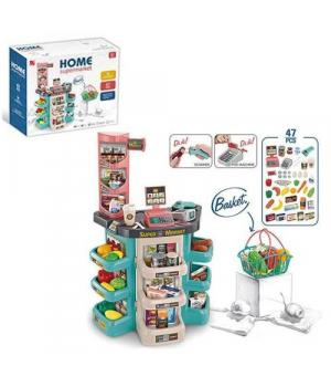 """Игровой набор """"Супермаркет"""" со звуковыми и световыми ээфектами, 47 эл 668-86"""