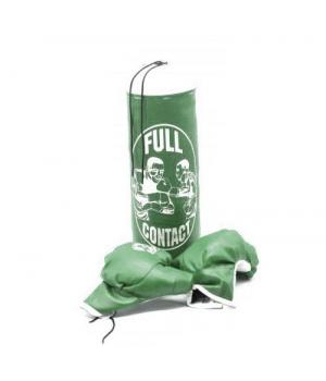 Детский боксерская груша 43*17 с перчатками 22*11, зеленый