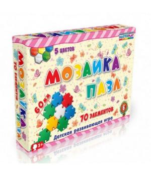 Мозаика для детей 3 лет, 70 деталей, Технок