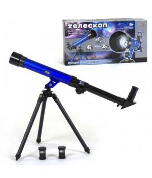 82355 [9866] Телескоп настольный 9866 (24/2) Play Smart, 3 окуляра, в коробке [Коробка]