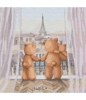 "Картина по номерам ""Семейное путешествие"" ★★★ КНО2360 30х30 см"