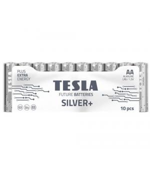 [AA SILVER+10M] Первинні елементи та первинні батареї, циліндричної форми, лужні TESLA BATTERIES AA SILVER+ 10 MULTIPACK ( LR06 / SHRINK 10 шт.)