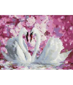 """Алмазная мозаика """"Белые лебеди"""" EJ1046"""