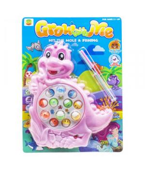 Интерактивная игрушка Рыбалка Динозаврик, розовый 8866A