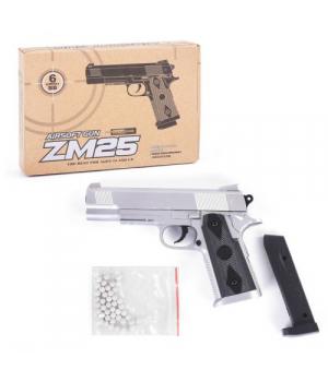 Пистолет ZM25 на пульках 6мм, металлический, Airsoft Gun, CYMA