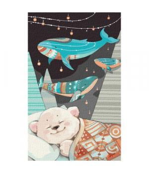"""Картина по номерам """"Сладкие сны мишутки"""" ★★★ КНО2367"""
