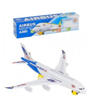 Самолет игрушка для детей, ездит, свет, звук, на батарейках