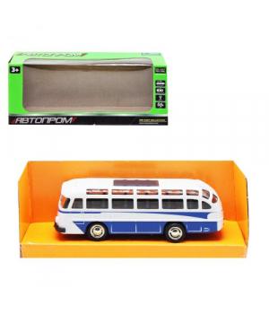 Игрушка автобус ЛАЗ, 1:32, металлический, свет,звук, синий