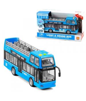 Двухэтажный автобус игрушка, синий