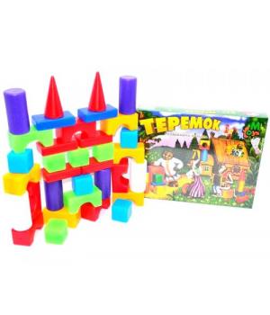 """Детские кубики конструктор пластиковые, """"Теремок"""" (32 элемента)"""