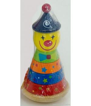 "Деревянная пирамидка-неваляшка ""Клоун"" 0493"