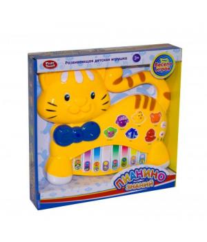 Игрушечное пианино детское, Котик, (желтый), Play Smart