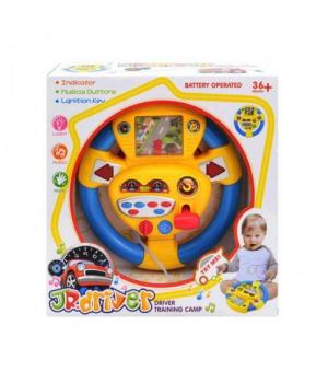 Игрушка руль для мальчика с экраном, музыкальный, JR