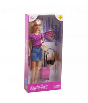 """Детская Кукла """"Defa: путешественница"""" (в сиреневом) 8377"""