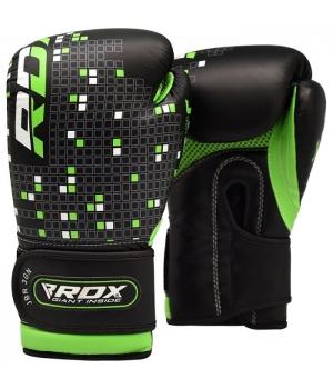 Детские боксерские перчатки, зеленые, от 4 до 12 лет, RDX