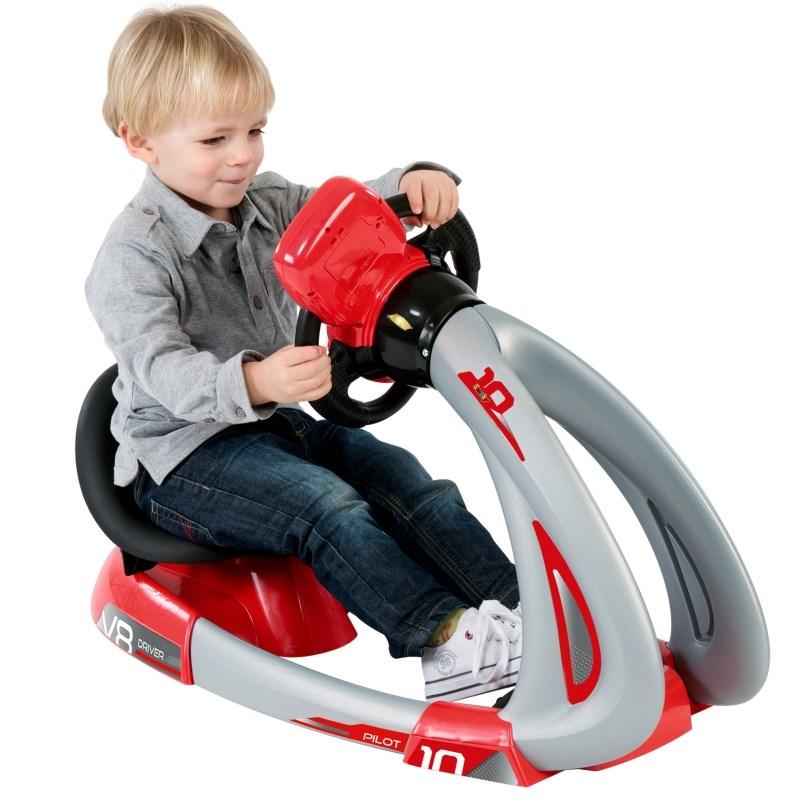 Детский руль с сиденьем и педалями Smoby