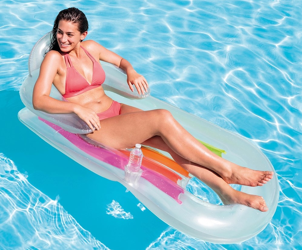 Надувне крісло для пляжу або басейну зі спинкою