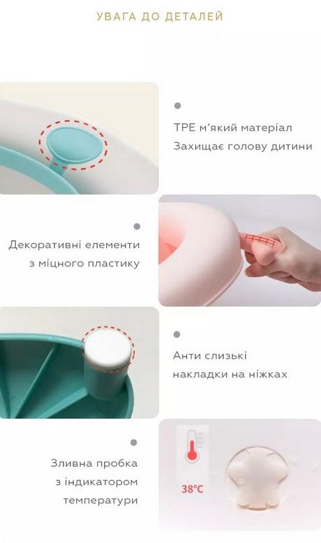 Складная ванночка для купания новорожденных